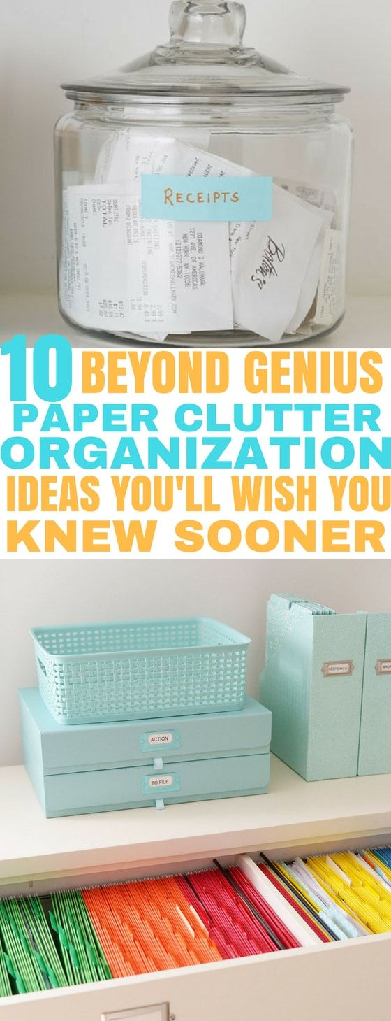 Reduce paper clutter and get organized with these brilliant paper clutter organi...