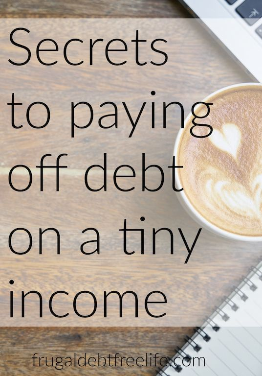 7 tips for paying off debt on a small income: Debt free motivation I know that t...
