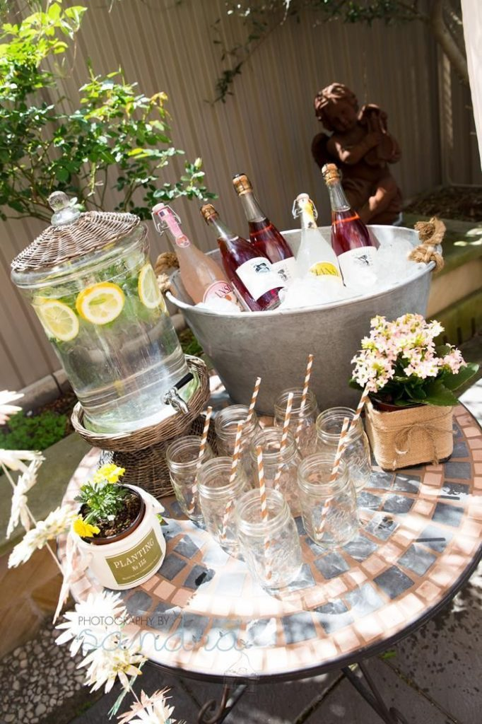 DIY garden party deco - table decorations