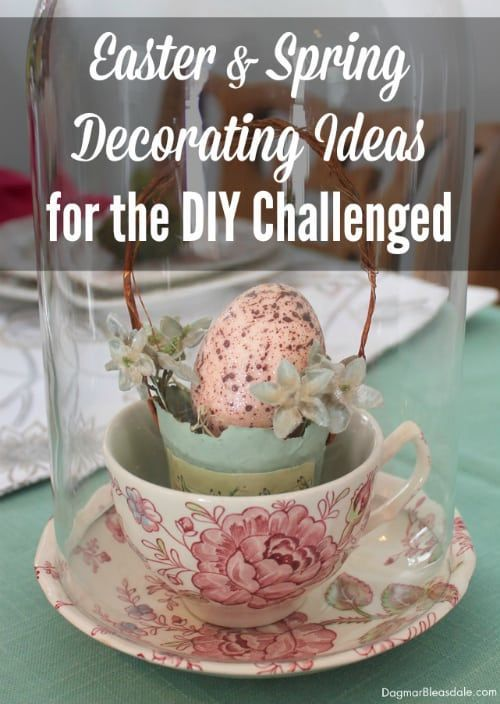Super easy spring decorating ideas for DIY challenged! These ideas are so easy, ...