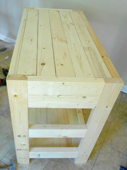 30 kitchen island made with 2x4s, diy, how to, kitchen design, kitchen island, w...