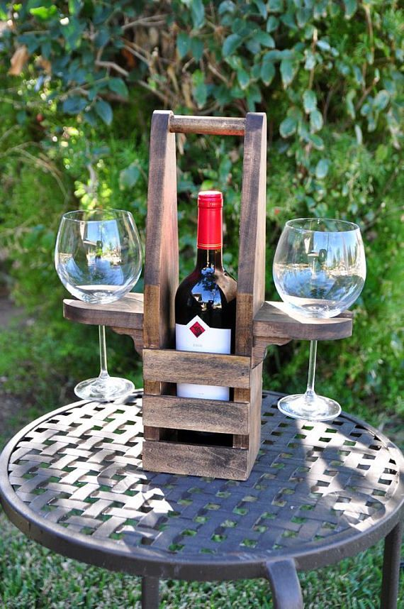 Our Table Top Wine Caddy makes the perfect gift for any occasion... Birthdays, W...