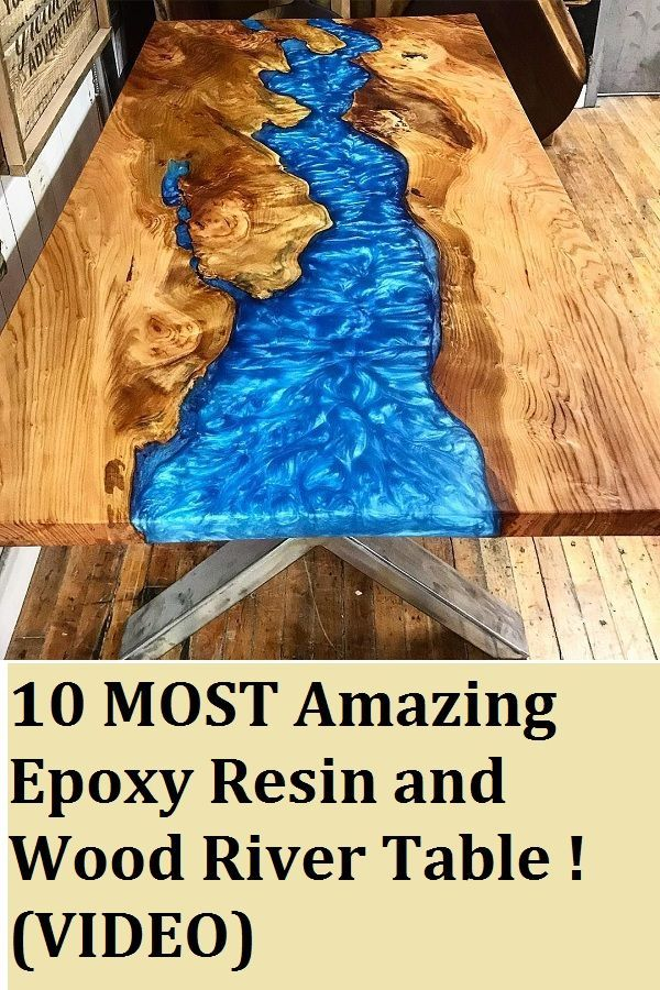 10 MOST Amazing Epoxy Resin and Wood River Table! Great DIY woodworking ... ...