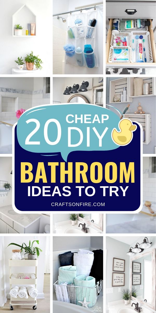 These DIY Bathroom Ideas are honestly the BEST! Such amazing ways to organize an...