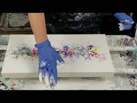 (477) Acrylic swipe with paper towels, cardboard, and a straw - YouTube