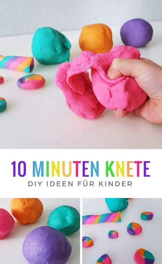 Make clay yourself Recipe: DIY idea for the children's birthday