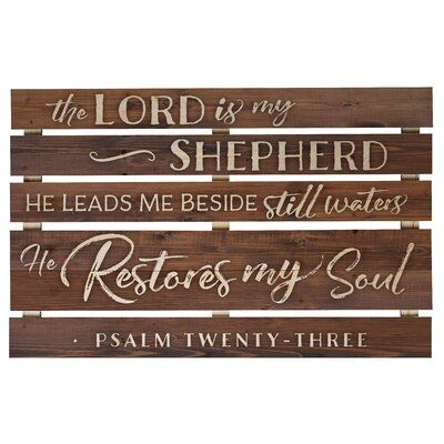 Millwood Pines The Lord Is My Shepherd Pallet Wall Décor