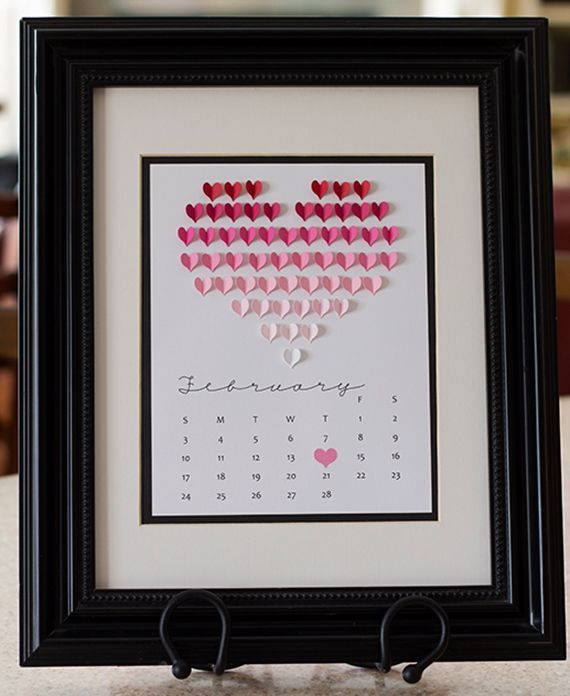 Great-it-yourself - and-Decorating ideas-for-Valentinstag_diy table calendar for Valentine's Day