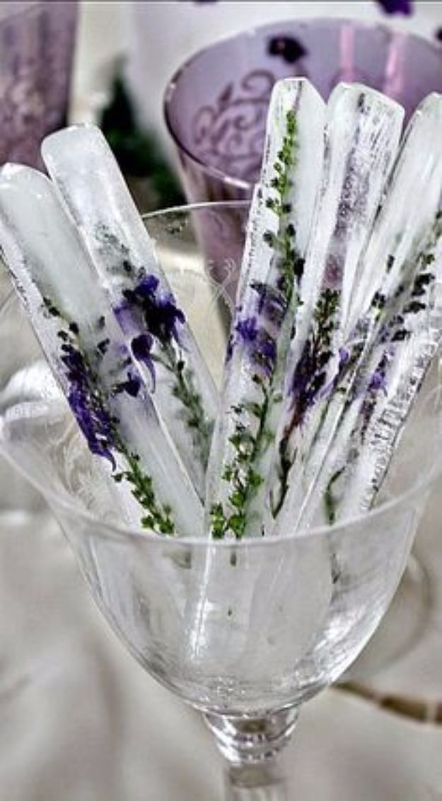 Ice Sticks with Lavender. could also use Rosemary. DIY Lavender Recipes and Proj...