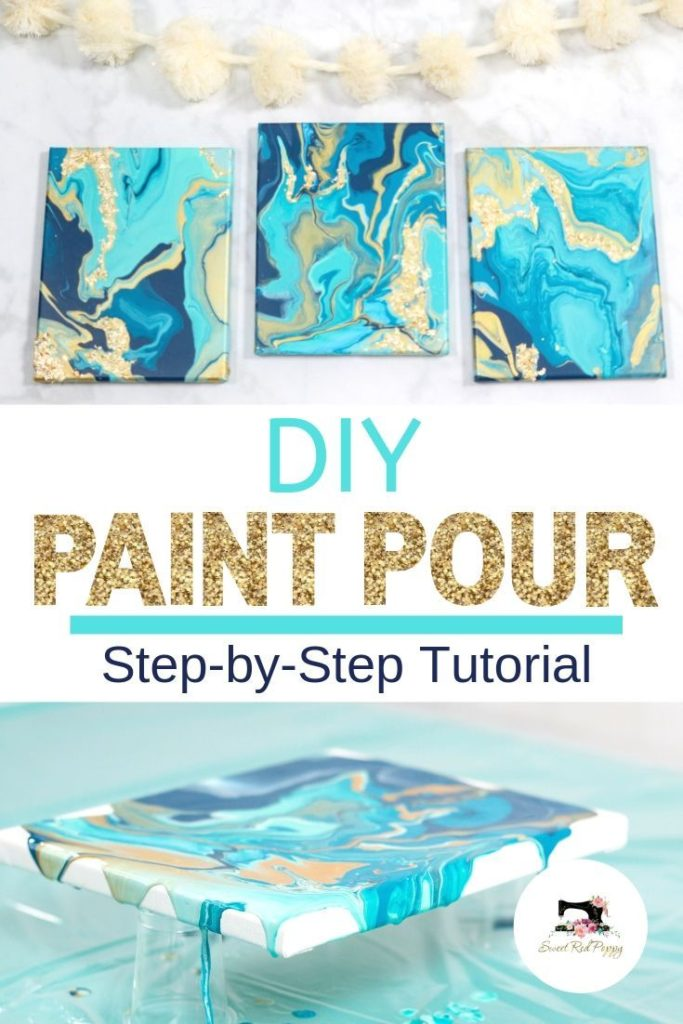 Learn How to Create a Stunning Paint Pour Canvas the Easy Way in This Step-By-St...