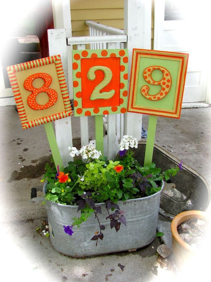 30 DIY Address Signs to add curb appeal to your home while also making your hous...