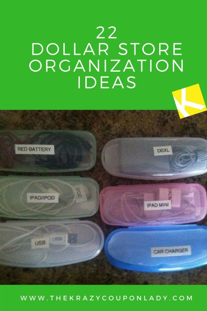 Dollar Store Organization Ideas for your home, kids room, kitchen, pantry, and m...