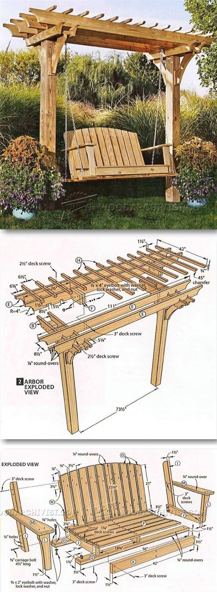 Arbor Swing Plans - Outdoor Furniture Plans & Projects -  #arbor #furniture #outdoor #plans #...
