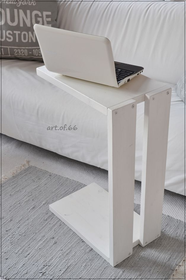 The side table or sofa carpenter I have from old, used pallet plate ...