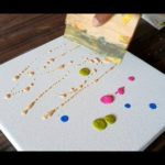 Abstract Painting Demonstration / Easy / Just using Rubber Squeegee / Pr...