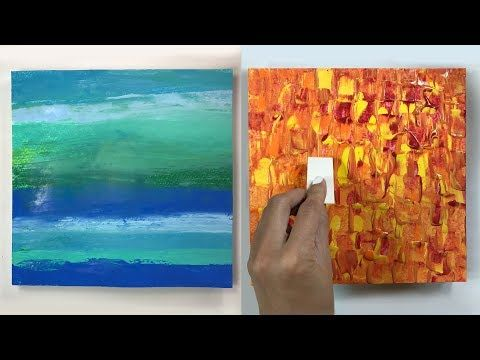 4 Cool Acrylic Painting Texture Techniques ( Easy ) - YouTube