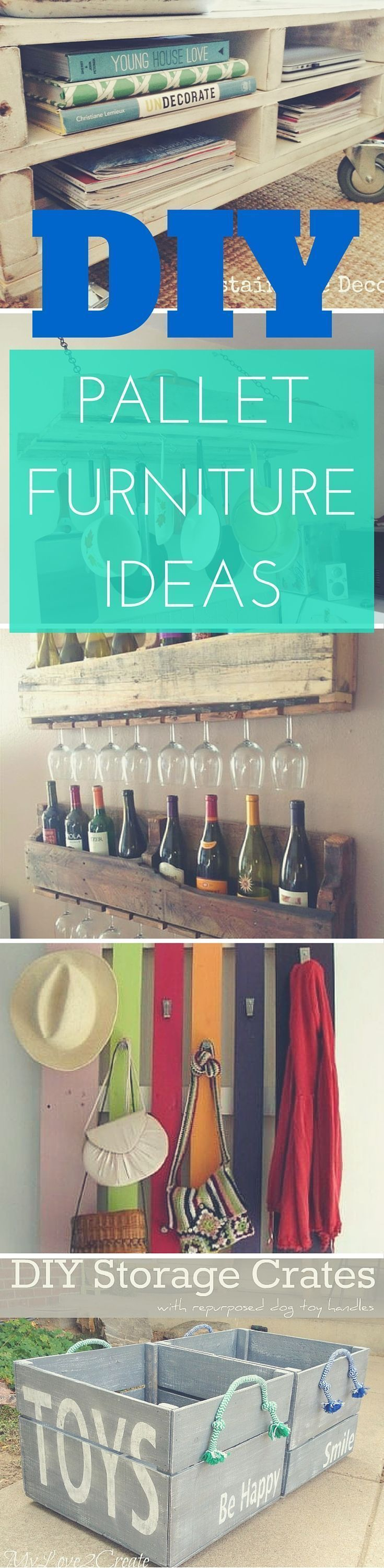 27 DIY Pallet Furniture ideas  indoor/outdoor pallet furniture from coat hanger ...