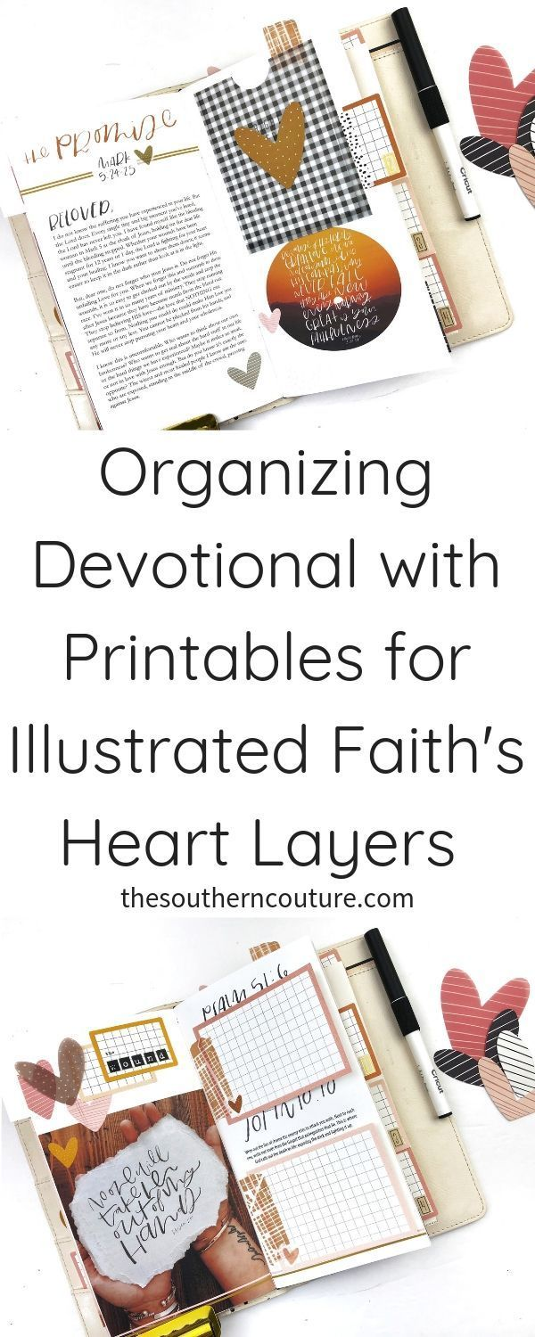 Organizing Devotional with Printables for Illustrated Faith's Heart Layers -...