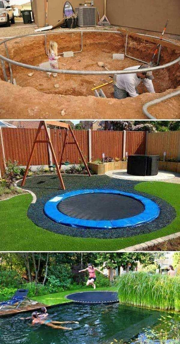 15 cool and inexpensive projects for a children's play area #coole #diyproje ...