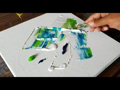 Easy Abstract Floral Painting / Acrylics & Palette knife / Demonstration /Projec...