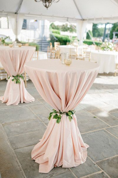 "Blush Tablecloth, Cocktail table, 120"" Round, 90""x156"", 90""x132"", 132"" Round 1DA..."