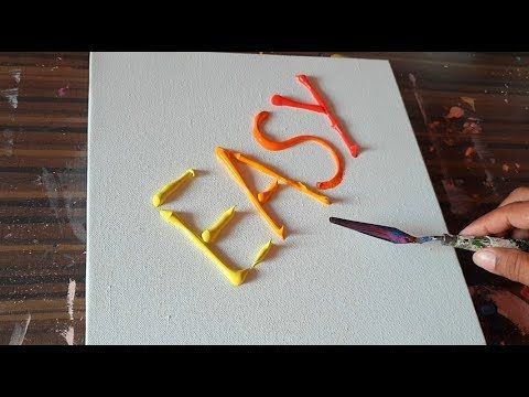 EASY / Abstract Painting Demonstration / Truely Satisfying / Project 365...
