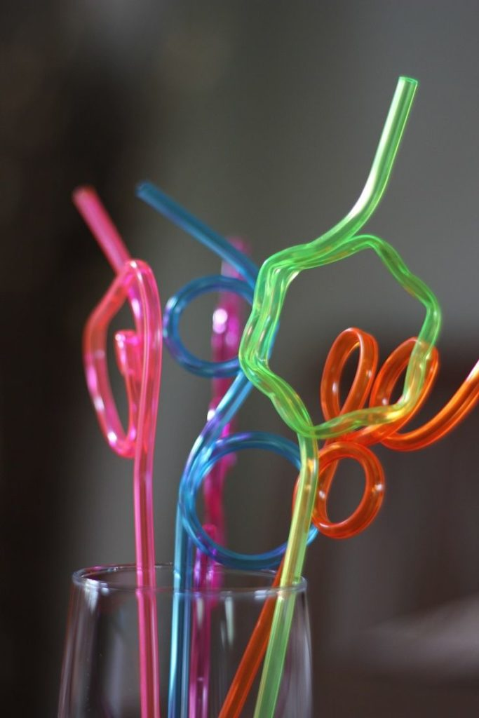 colorful crazy straws for the party guests