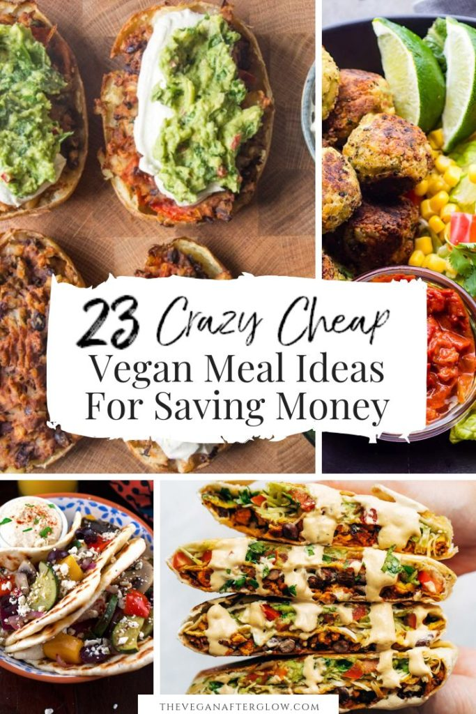 Are you looking some cheap vegan meal inspiration? Here are 23 crazy cheap vegan...