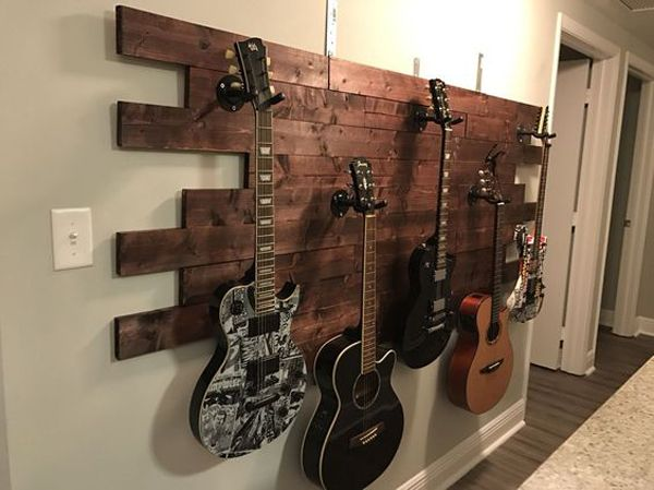 15+ Cool Ways To Display Your Guitar Collections | Home textiles idea ...