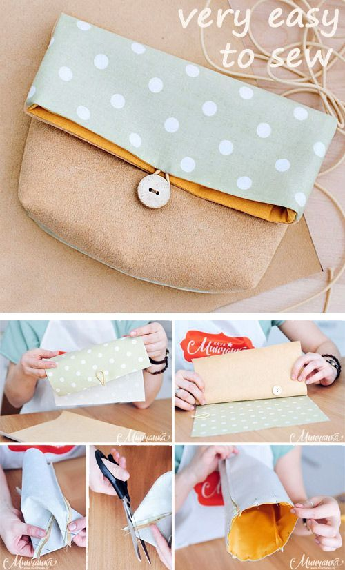We sew a cosmetic bag. DIY tutorial. ~ Sewing projects for beginners. Sch ...