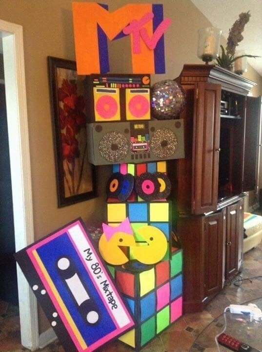 14 Ingenious Deco Ideas 90s Party - # 90s #deko #genial # Ideas #Party