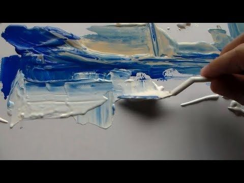 "Abstract Painting / Demonstration in Acrylics / ""R-31 by Roxer Vidal"" - YouTube"