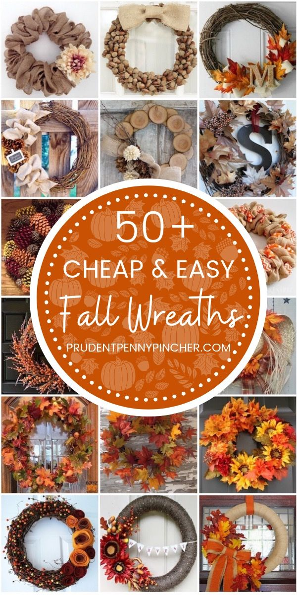 50 Cheap and Easy Fall Wreaths #wreaths #fall #falldecor #falldecorations #diy