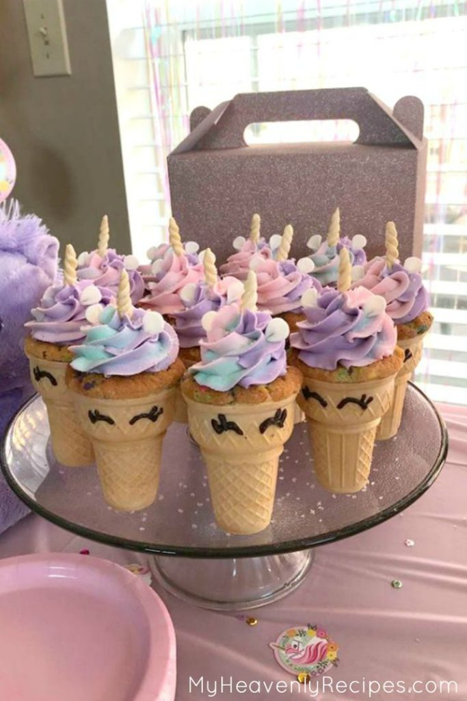 You MUST make these unicorn cupcakes! This unicorn recipe makes the PERFE ...