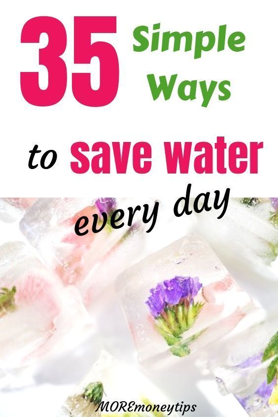 Save money on your water bills using these 35 easy tips. These water saving tips...