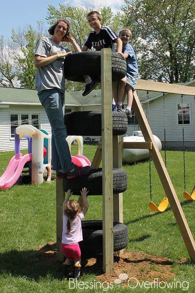 Simple ideas for reusing tires in play areas and back ...