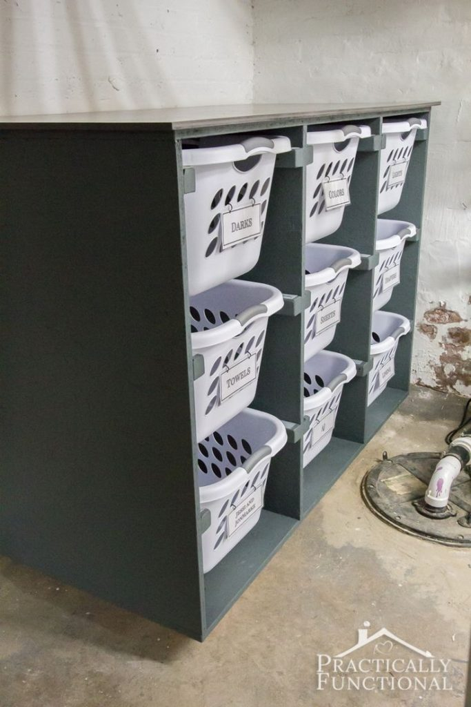 Simple DIY laundry basket chest of drawers