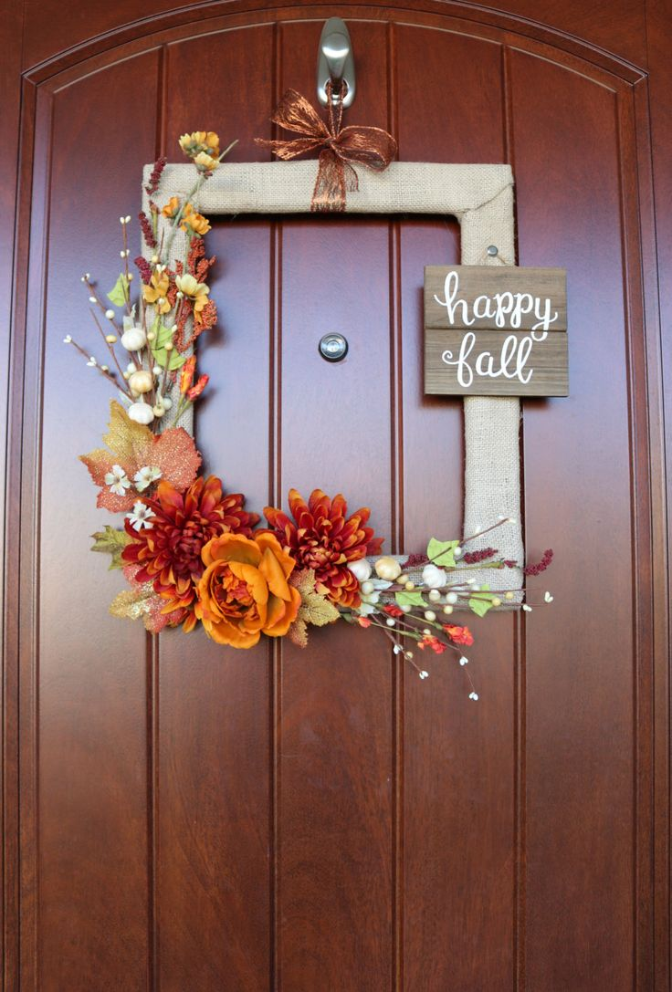How to Make a Fall Wreath from a Thrifted Picture Frame: you'll love how eas...