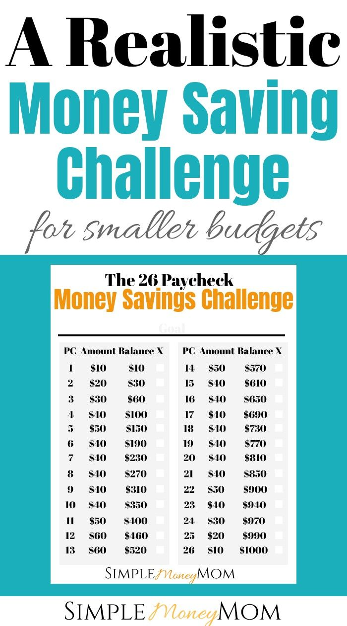 Finally! A simple money saving challenge for those who don't make much money. I'...