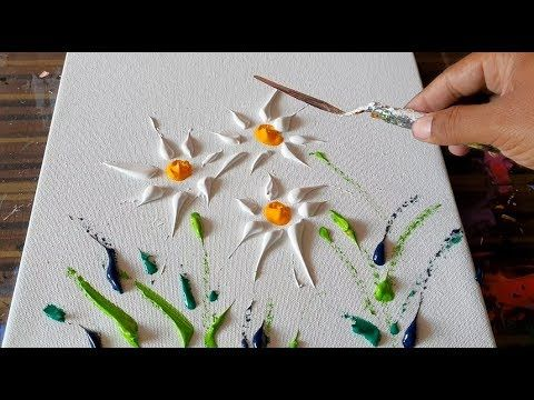 Wild Flowers / Simple Floral Painting / Abstract Painting Demonstration/...