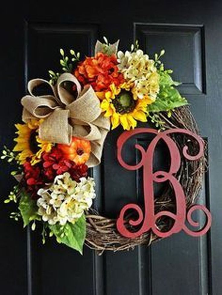 Cool 46 Cheap Iy Fall Wreaths Ideas. More at homishome.com/...