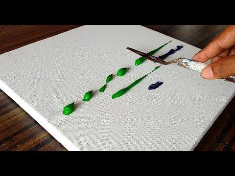 Creation of Abstract Painting Landscape/By Spreading Paint on Canvas/Pro...