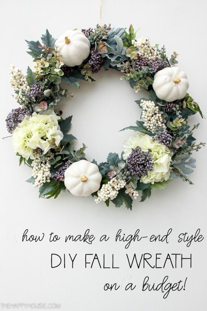 How to Make a High-End Style DIY Fall Wreath on a Budget | The Happy Housie