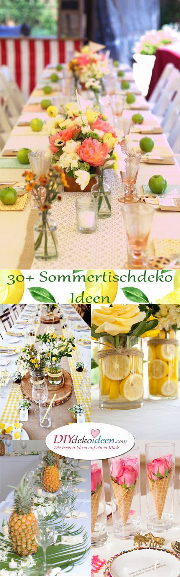 Make summer table decoration yourself. 30+ DIY deco ideas for your next party