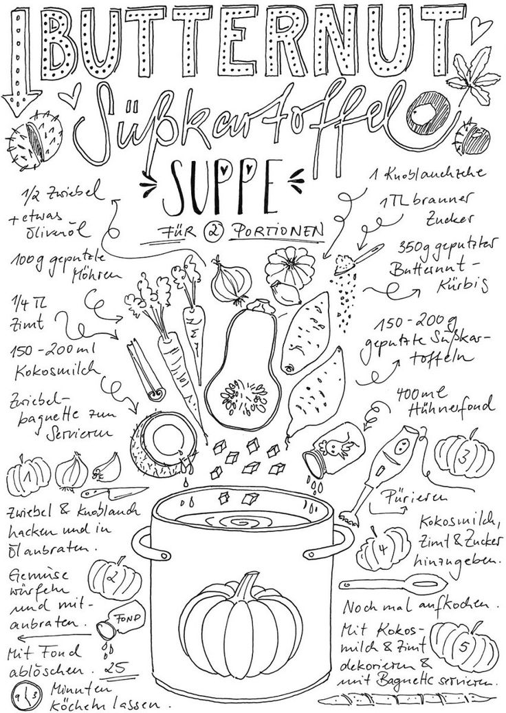 "Recipe for Butternut Sweet Potato Soup - Recipe Doodle on ""Fairy is my name"""