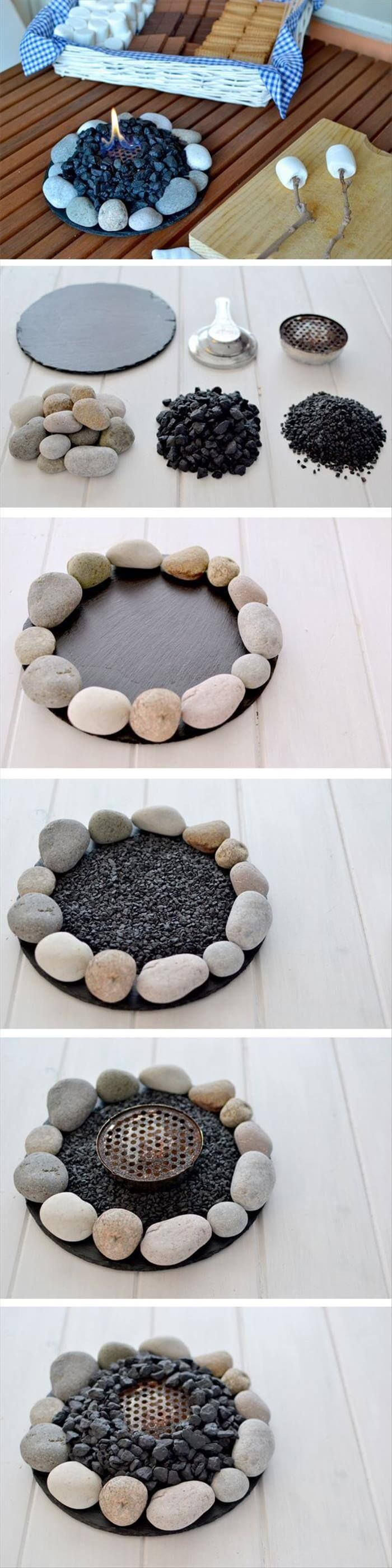 17 easy to make DIY table top fire bowls #easy #fire bowls #mache ...