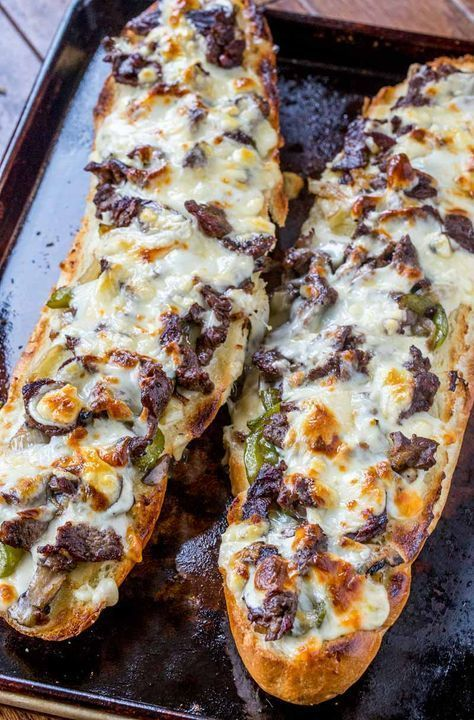 Philly Cheese Steak Cheesy Bread # dinner # dinner recipes #recipes