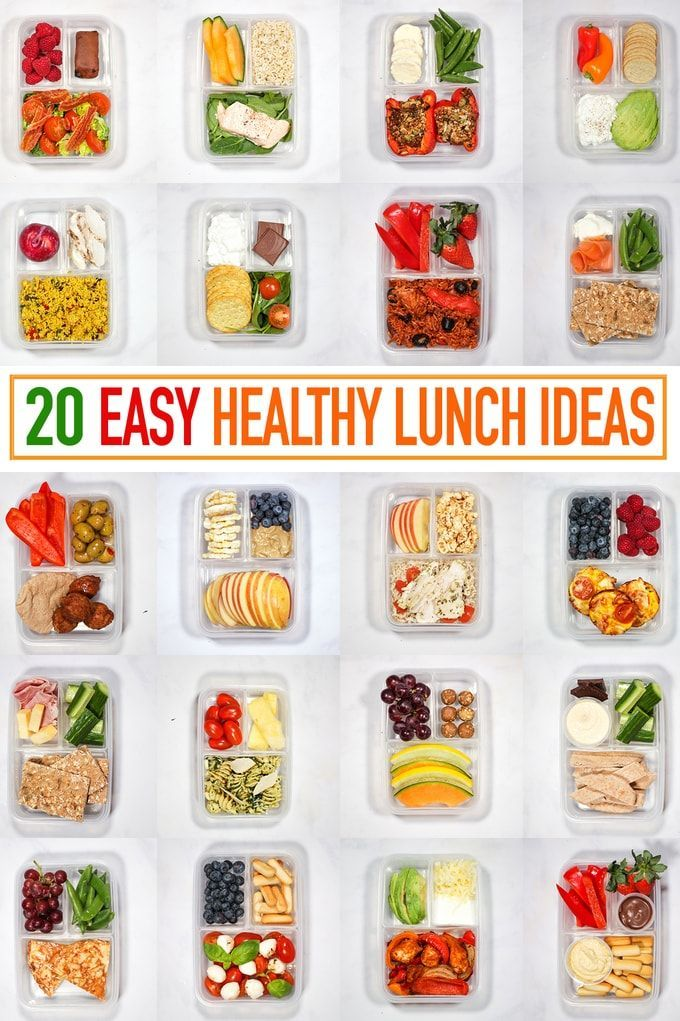 20 healthy packed lunches - recipes for a quick lunch to go! #gesu ...
