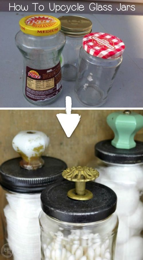 Save your food glasses! I love this recycling craft. #this ...