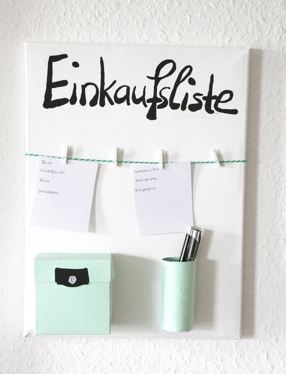 DIY Shopping List Organizer | Shopping List Organizer | DIY household